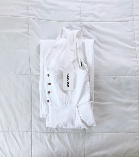 ecowish white jump suit