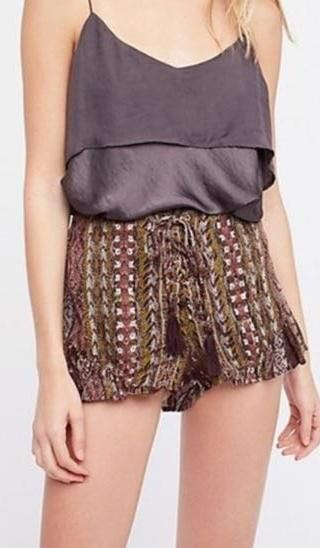 Free People Lace up Flowy Shorts