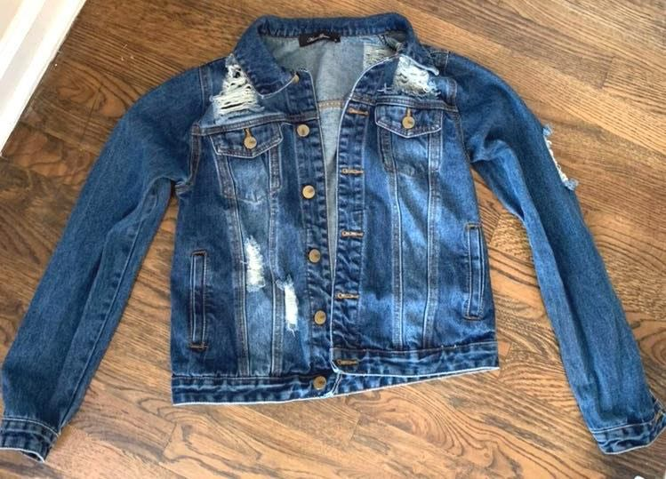 Boutique Distressed Denim Jacket
