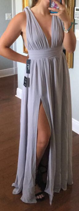 Lulus Gray Formal Dress
