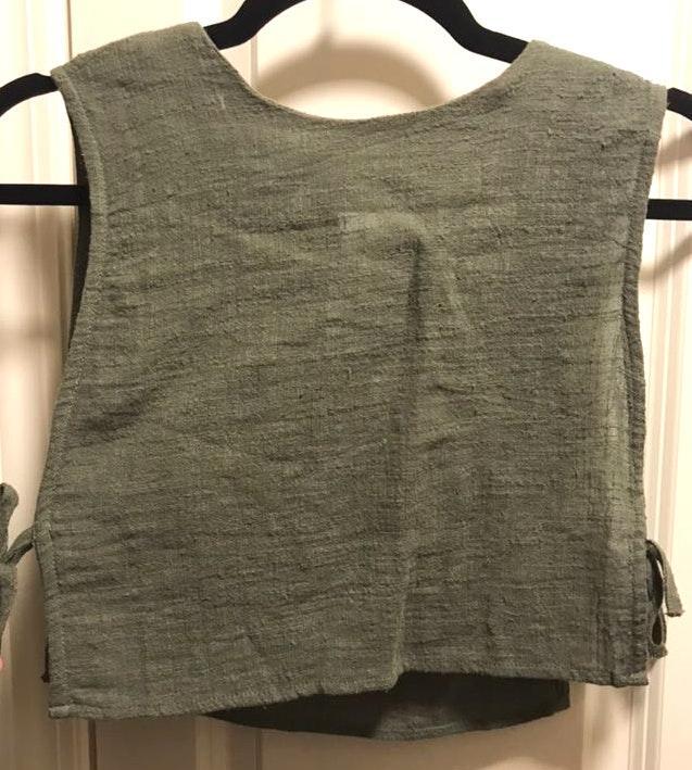 Sabo Skirt Dark Green Crop Top