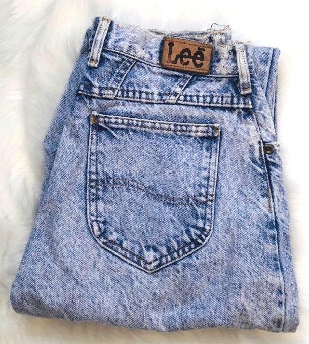Lee Vtg  Acid Wash Jeans