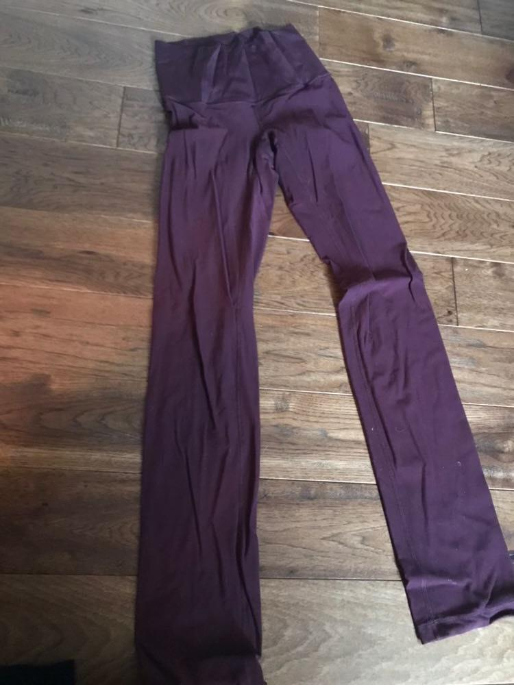 Lululemon Maroon Bootcut Leggings