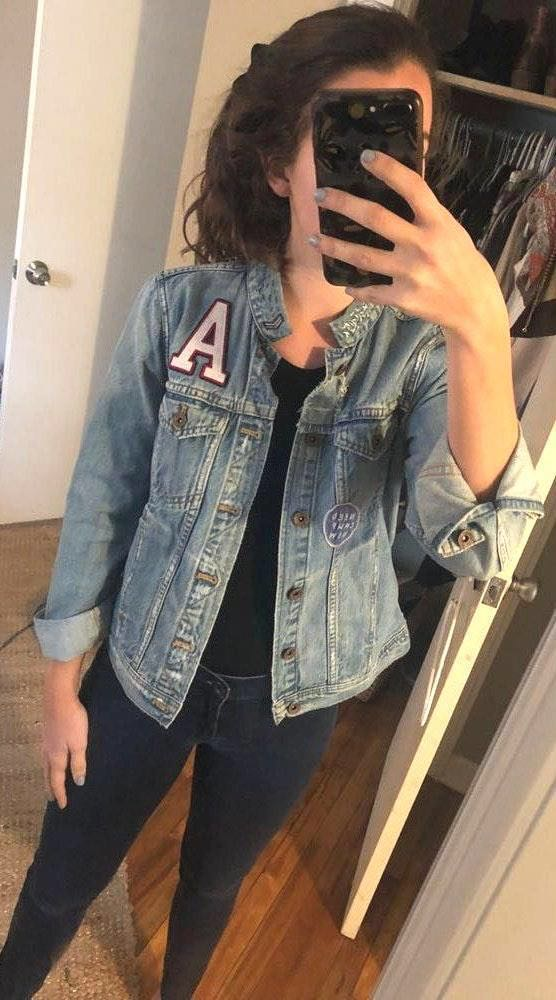 Madewell Light Wash Denim Jacket W Patches