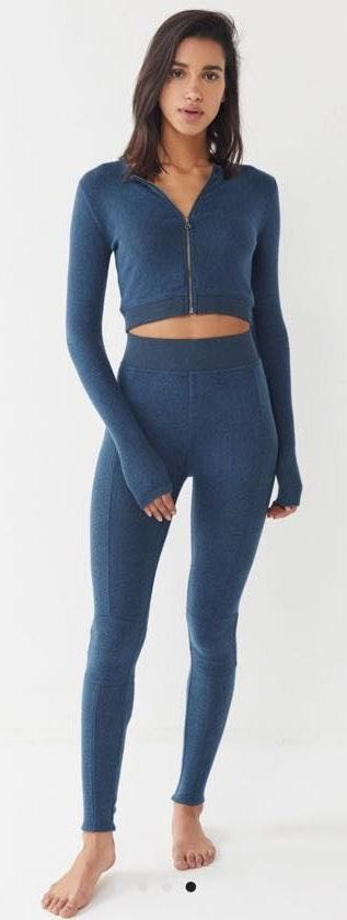 Out From Under URBAN OUTFITTERS Blue Jacket And Legging Set