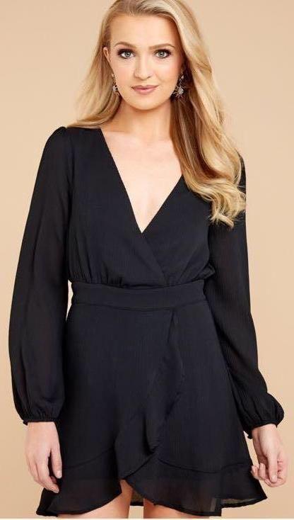 3d7bd469a753 Red Dress Boutique Black Semi-Formal Dress