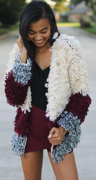 31 threads / Hayden LA shag sweater jacket