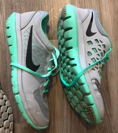 Nike Grey And Green  Tennis