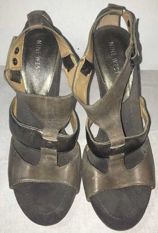 Nine West Grey Metallic  Heels