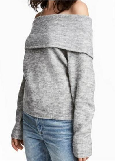 Divided H&M Off The Should Sweater