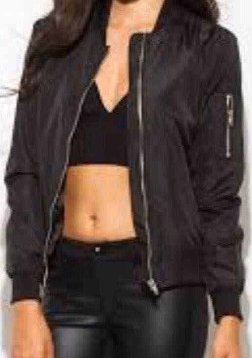 Urban Outfitters Black Oversized Bomber Jacket