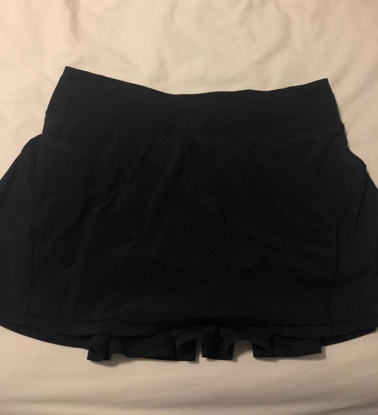 Lululemon Pleated black athletic skirt