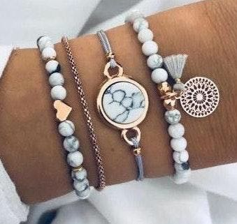 Boutique Marble Bracelet Set