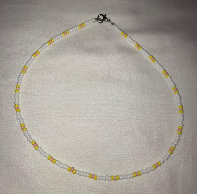 Yellow Handmade Beaded Necklace