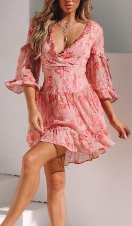 Hello Molly Pink Floral Dress