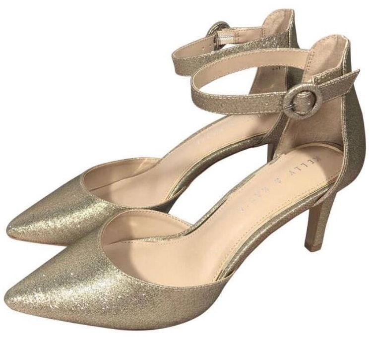 Kelly \u0026 Katie NEW Gold Pumps