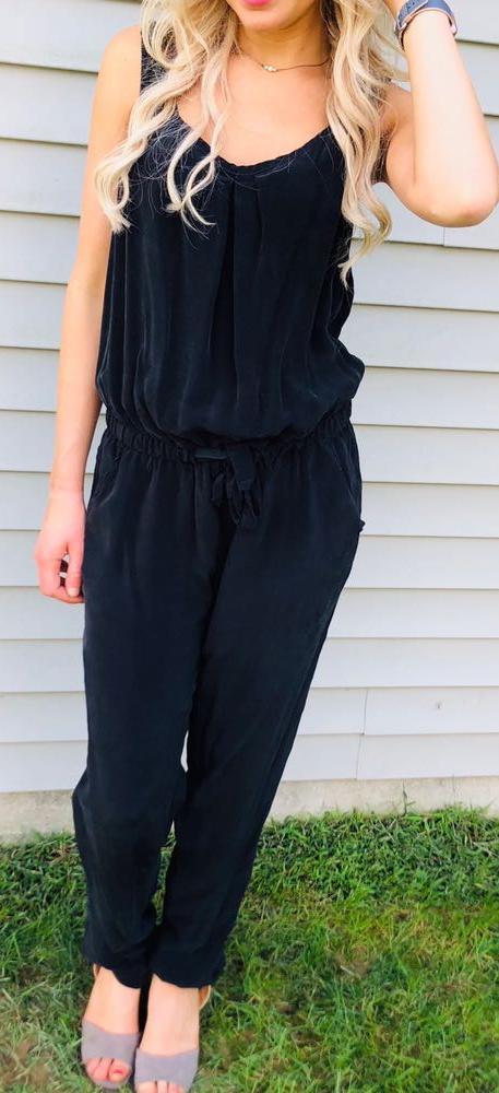 United Colors of Benetton Black Drawstring Jumpsuit