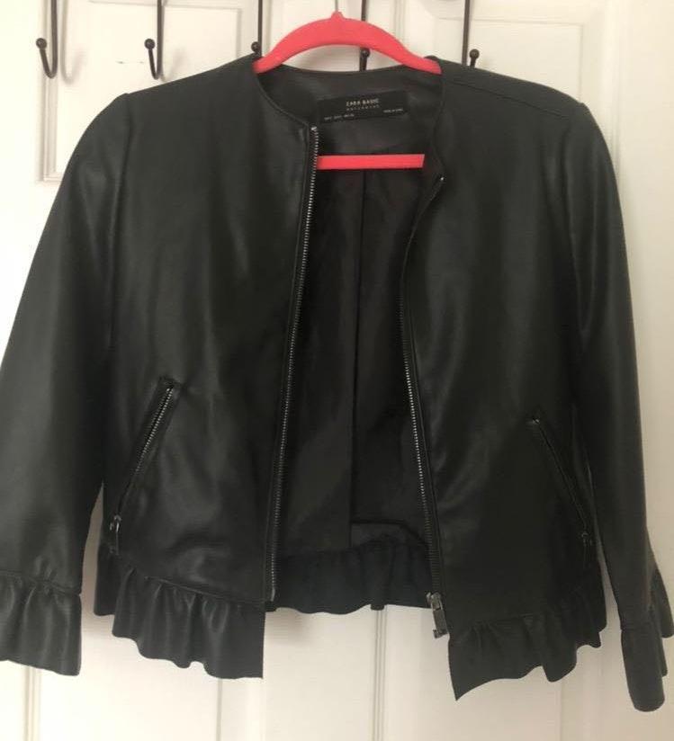 b4d266a24 Gracia Black Leather Jacket | Curtsy