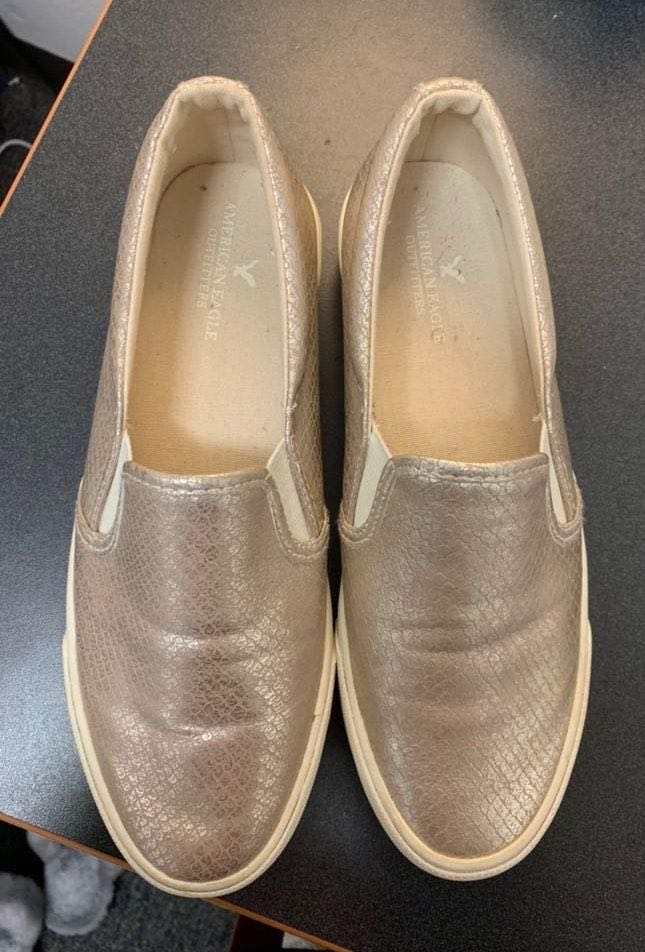 American Eagle Outfitters Gold Slip On shoes