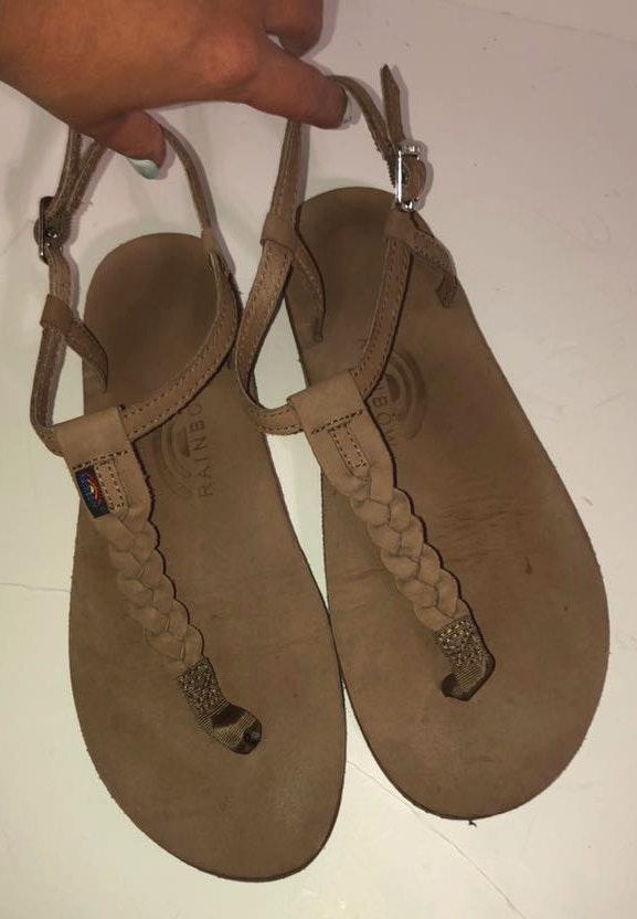Rainbow T-street Leather Sandals