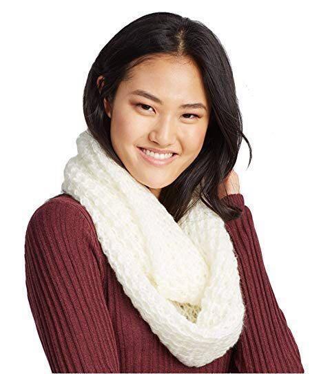 Aeropostale Infinity Fluffy White Knit Scarf