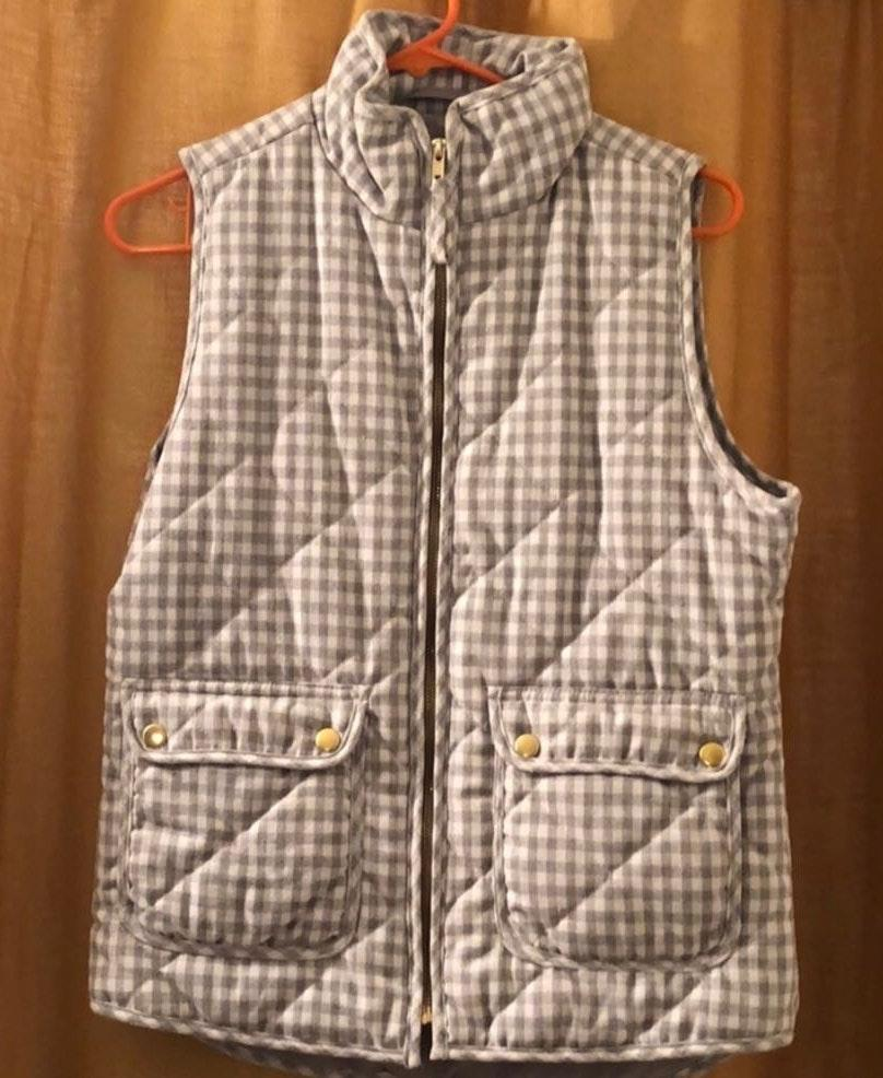 Blue Rain Plaid Vest