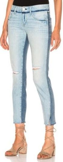 Anthropologie Amo Rise And Shine Two Tone Jeans