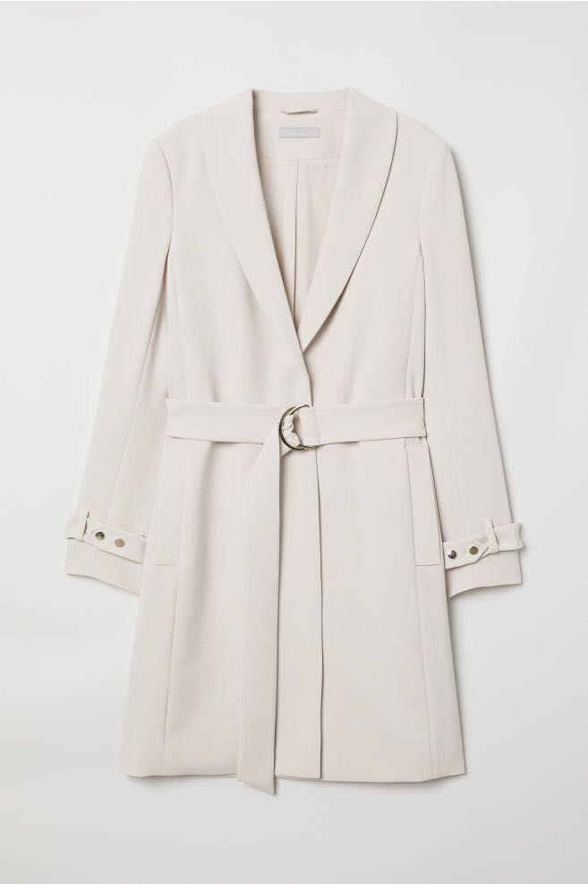 H&M Beige Trench Coat Size 4