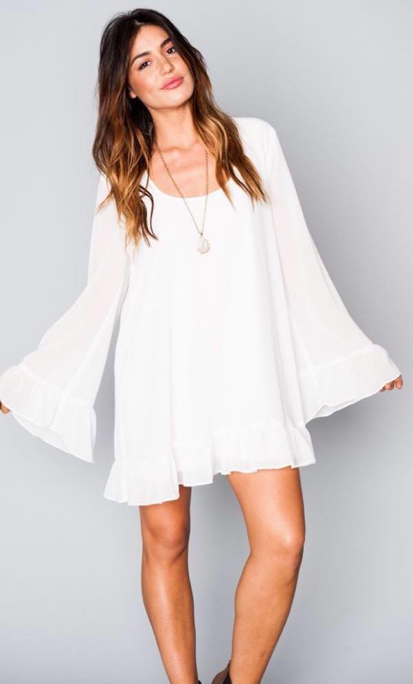 Show Me Your Mumu White Ruffle Dress