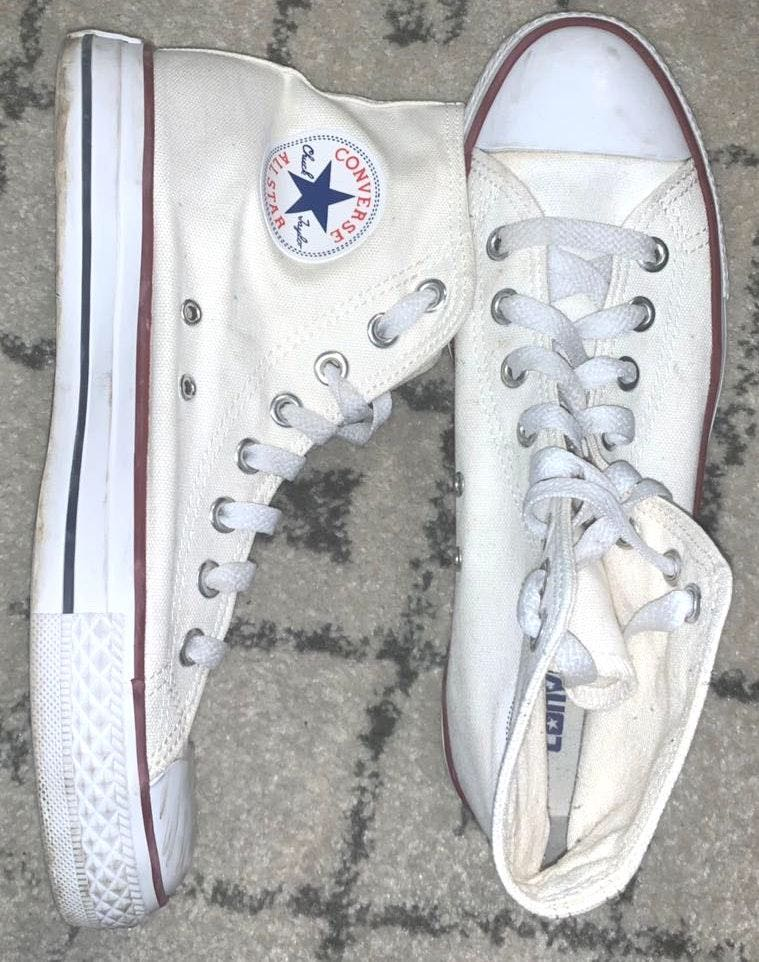 Converse White hightop  Sneakers