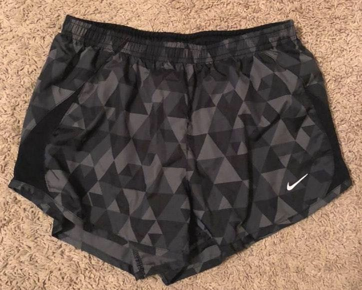 Nike Black and Gray Patterned Shorts