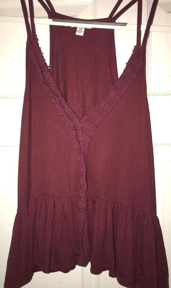 American Eagle Outfitters Flowy Tank with Lace Detailing
