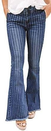 Boutique Striped Flare Jeans