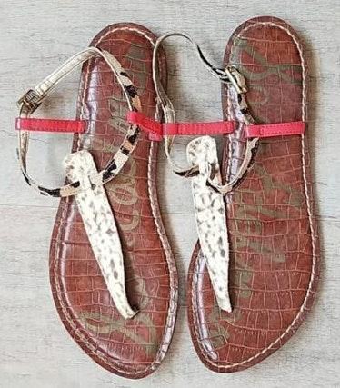 Sam Edelman Mixed Print Sandals