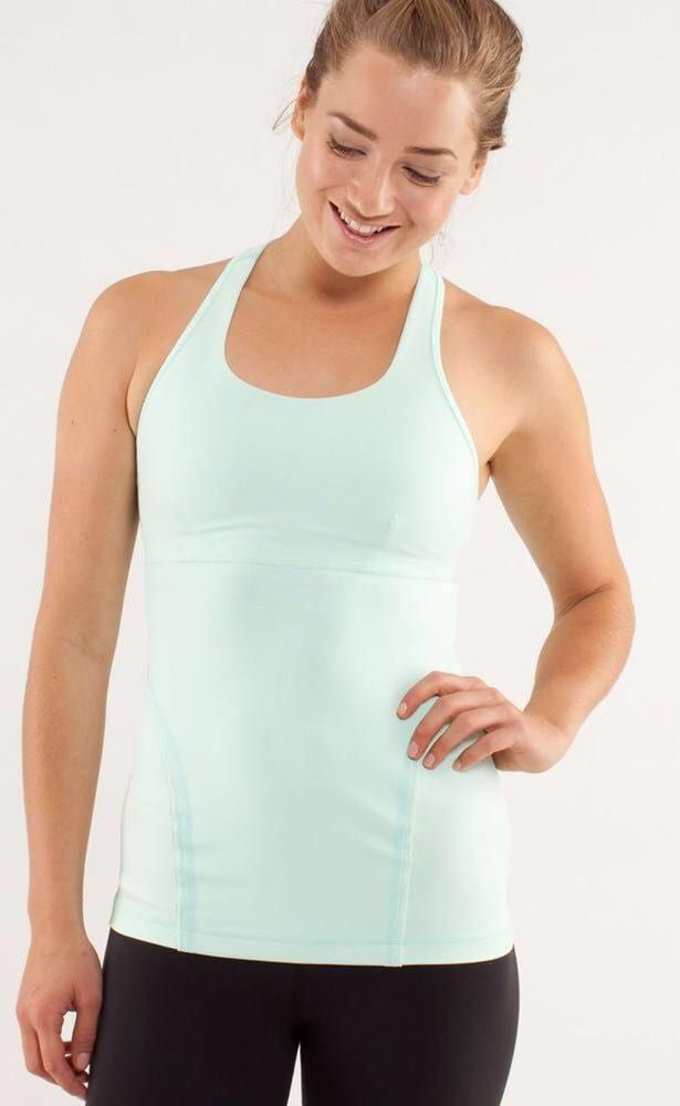 Lululemon White Cross Tank