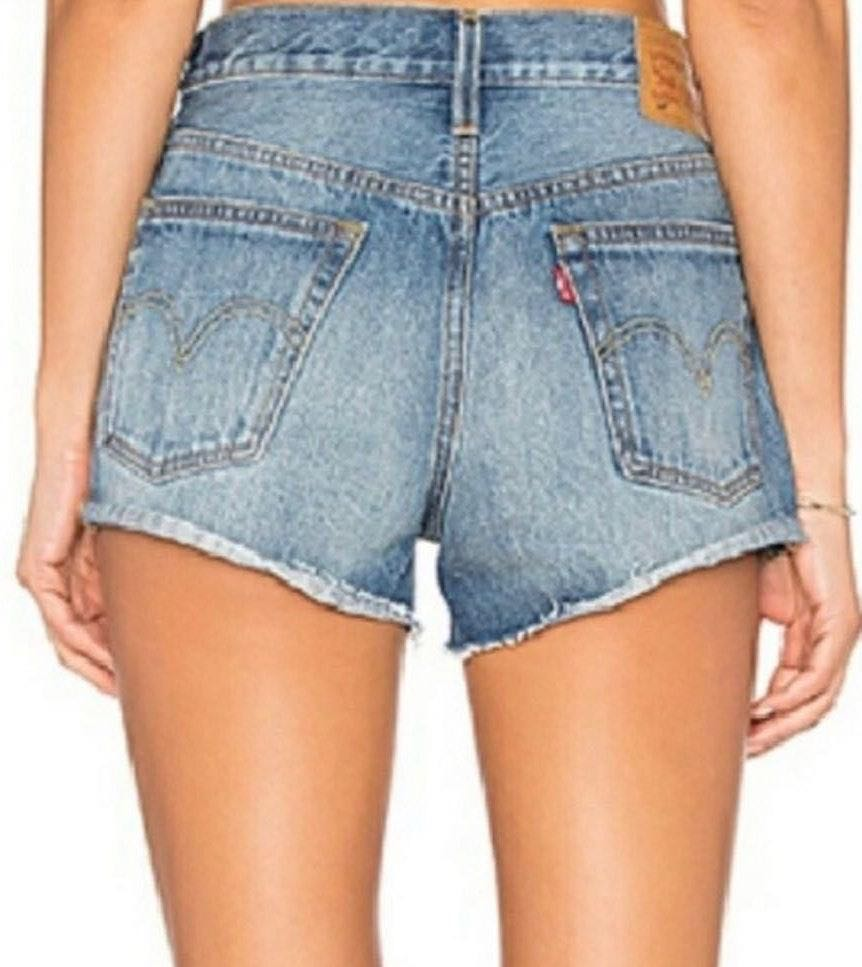 Levi's High Waisted 505 Cut Off Shorts