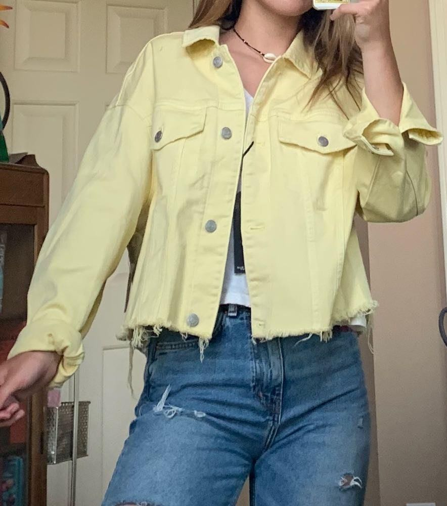EXPRESS Yellow Denim Jacket