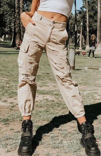 Carmar Denim Baggy Grinded Cargo Pant