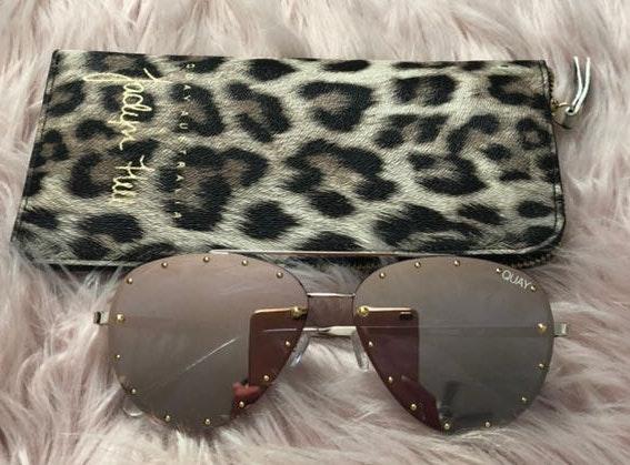 Quay Australia Jaclyn Hill X  Studded Pink Sunglasses
