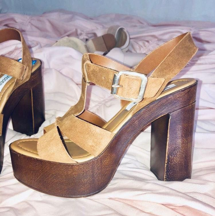 Steve Madden Wooden Platform Heels!!
