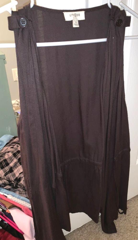 Umgee brown tie vest