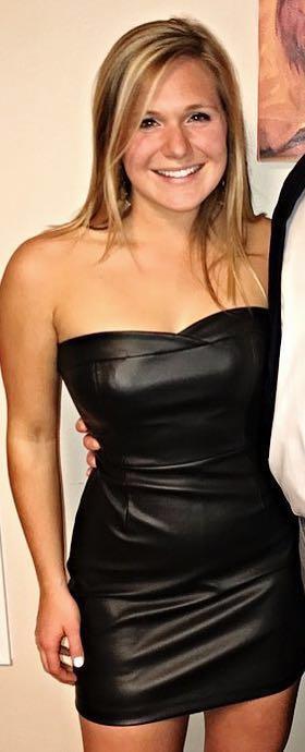 BCBGeneration Black Leather Cocktail Dress