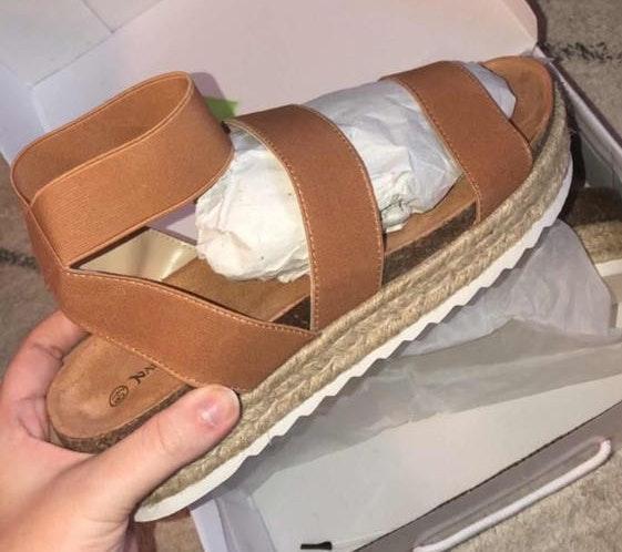 Tan Espadrille Sandals