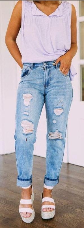 These Three Boutique Boyfriend Jeans