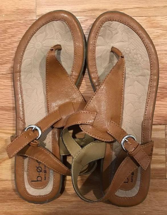 Born concept Brown Leather Sandals