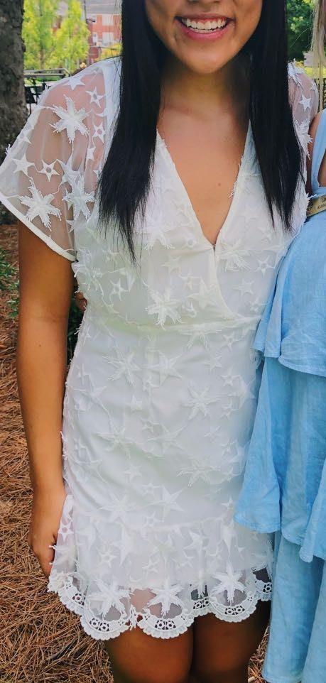 American Threads White Star Dress