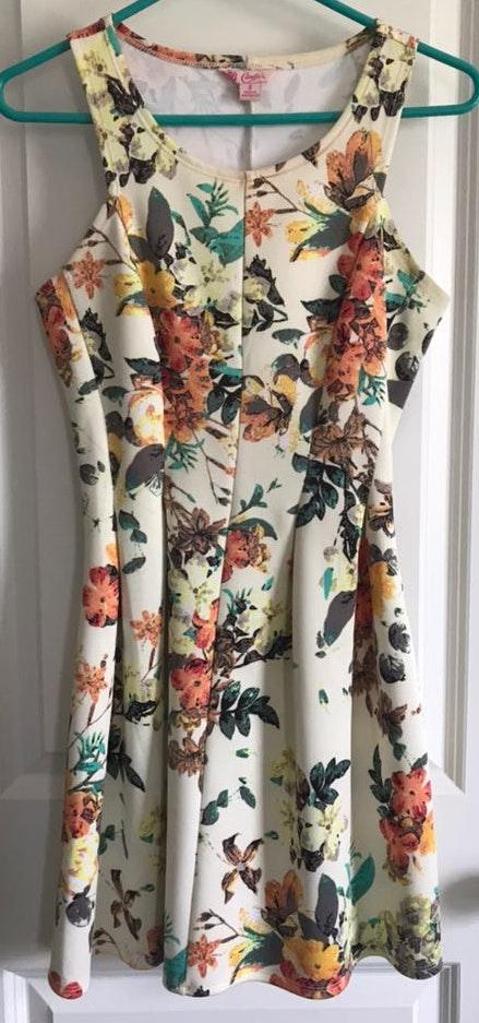 Candie's Floral Fit and Flare Dress