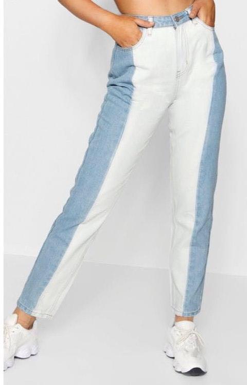 Boohoo Contrast Mom Jeans