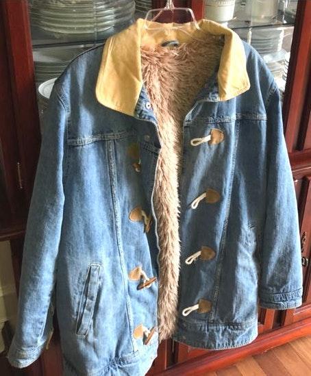 Free People Fur Lined trucker jacket