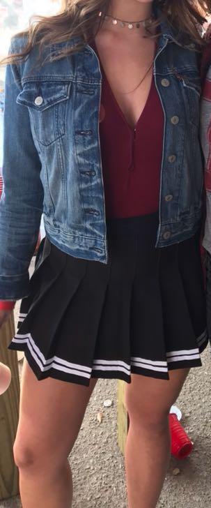 Black Striped Cheer Skirt